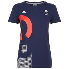 Adidas Originals Team GB T-Shirt ($40) ❤ liked on Polyvore featuring activewear, activewear tops, adidas originals and logo sportswear