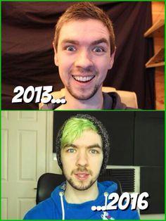 Jacksepticeye- Then & Now