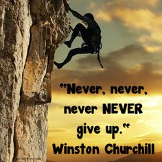 """""""Never, never, never, NEVER give up."""" Winston Churchill #inspiration #davidshoup #quotes #winstonchurchill"""