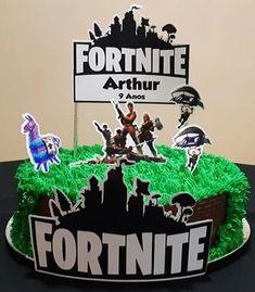 Bolo Fortnite: 60 modelos e ideias inspiradas no jogo, confira! Lan Party, Hedgehog Birthday, Mom Cake, Birthday Parties, Birthday Cake, Name Day, Cakes For Boys, Party Cakes, Birthdays