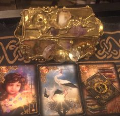 April 13th:  Lenormand Universal Day Spread: Day 13: Child Day + Month: 13 + 4 = 17: Stork Day + Month + Year: 13 + 4 + 9 (2+0+1+6) = 26: Book Child: Jack of Spades:  Fire Stork: Queen of Hearts:  Water Book: Ten of Diamonds:  Earth Child: Positive Stork:  Positive Book:  Neutral Message: Today in the cards I see you thinking about a youngster (child) in reference to a change (stork), which could result in nmñGo to:  dnaprofilesapp.com/lenormand #annewalner #lenormand #cartomancy #tarot…