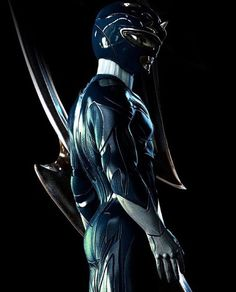 Blue Ranger by Carlosdattoliart. The patterns and the shine! So cool! Captures the Rangers perfectly and has an amazing reflection of the old school power rangers. Wish it was the real designs for the upcoming film.  #SonGokuKakarot