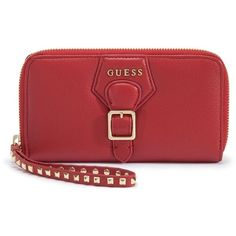 GUESS Modern Simplicity Leather Zip Wallet
