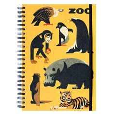 Creative: Eleven Ace Ways To Take Note  (via Yellow ZOO notebook featuring vintage animal by sugarushuk on Etsy)