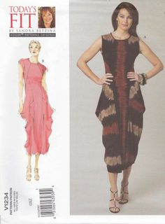 Vogue Sewing Pattern 1234 Misses'/Women's Plus Size 10-32W Sandra Betzina Knit Dress
