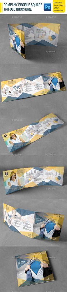Company Profile Square Trifold Brochure Template #design Download: http://graphicriver.net/item/company-profile-square-trifold-brochure/9981846?ref=ksioks