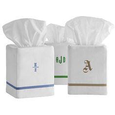 I love the Grosgrain Tissue Box Cover on markandgraham.com