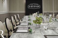 Meeting Room Set Up at Del Monte Lodge Hotel and Spa {photo by: Lauren Rubenstein} #uniquelychic