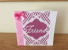 Birthday card with crafters companion die