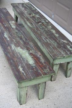 DIY Farmhouse Benches
