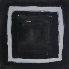 INGRESS - Peinture,  12x12x1 in ©2016 par Sagar Mehta -                                                                        Art abstrait, Expressionnisme abstrait, Toile, Art abstrait, BLACK, PORTAL, ESCAPE, MINIMAL, BLACK AND WHITE