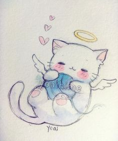 On my way to the grocery store, I saw a white cat that had died....this is in memory of the kitty ;___; Poor little guy, at least the kitty is in a better place now! >A< Rest in peace~