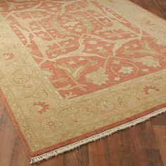 Coral and Golden Sand Traditional Oushak Rug - Shades of Light