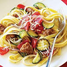 Italian Sausage and Zucchini Pasta < 17 Summer Squash & Zucchini Recipes - Sunset.com