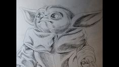 I draw BABY YODA! I've already done a Zombie Version of the character featured in 'The Mandalorian,' so, now I'm doing a 'straight up' version for you. Zombie Art, Drawings, Happy, Character, Sketches, Ser Feliz, Drawing, Portrait, Lettering