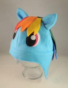 Rainbow Dash My Little Pony Inspired Fleece by TheCraftEGalShop, $20.00
