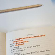 Reading #endgame filled with absurd. #samuelbeckett #bookworm #englishmajor #books #samuel #beckett