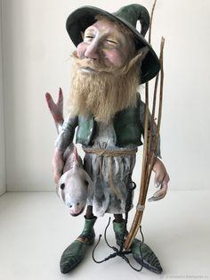 Коллекционные куклы ручной работы. Ярмарка Мастеров - ручная работа. Купить Рыбак. Handmade. Подарок, статуэтка рыбака