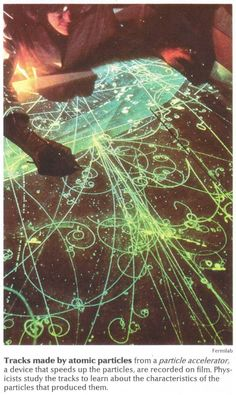 Tracks made by atomic particles from a particle accelerator. Beautiful.