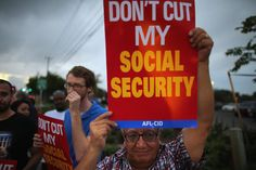 Protesters at a 2012 rally oppose cuts to Social Security benefits.