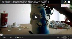 PVC PASSO A PASSO: Como usar aerógrafo - Luminária de PVC