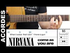 Nirvana - Come As You Are Guitar Chords Acordes de guitarra - YouTube