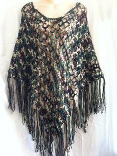 Handmade Crochet Poncho by kjbryandesigns on Etsy, $40.00