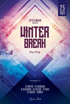 Pure Winter Flyer Template Download Psd File