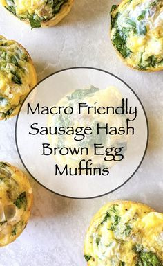 These Sausage Hash Brown Egg Muffins are only 4 ingredients. They're packed with protein and low in carbs. I love making these for meal prep for the week to make breakfast time easier. #macrofriendlyrecipes #eggmuffins #lowcarb #highprotein #breakfastrecipe Best Breakfast Recipes, Brunch Recipes, Healthy Dinner Recipes, Whole Food Recipes, How To Make Breakfast, Breakfast Time, Clean Eating Recipes, Healthy Eating, Healthy Habbits