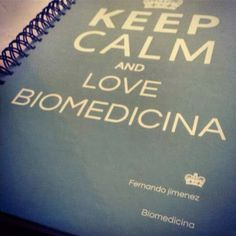 Keep Calm and Love Biomedicina -  Amazing image via  Biomedicina Padrão