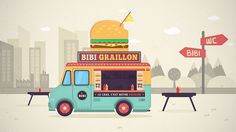 rendu-tuto-food-truck-illustration-vectorielle Animate Css, Home Icon, Art Graphique, Art Tutorials, Typography Design, Digital Illustration, Adobe Illustrator, Africa, Miniatures