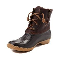 <p>Make a stylish splash with the new Saltwater Boot from Sperry Top-Sider! You'll be hoping for rain while rocking the Sperry Saltwater Boot, featuring a leather upper with waterproof rubber vamp, and a warm micro-fleece lining to keep you dry and warm.</p> <p><u>Features include</u>:</p> <ul> <li> Waterproof leather and rubber combination uppers</li> <li> Micro-fleece lining for comfort</li> <...