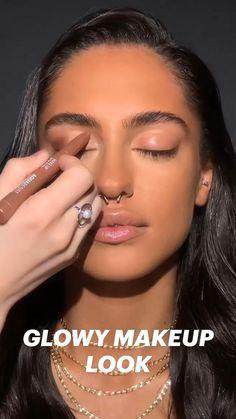 Face Makeup Tips, Glowy Makeup, Natural Makeup, Makeup Videos, Makeup Looks, Glowy Skin, Makeup Inspo, Makeup Inspiration, Makeup Makeover