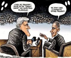 Late Night POTUS Rimshots #Obama #JayLeno #ocra