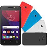 "Smartphone Alcatel PIXI4 Colors Dual Chip Android 6.0 Tela 4"" Memória 8GB 3G Câmera 8MP Selfie 5MP Flash Frontal Quad Core - Preto #SmartphoneAlcatel"
