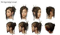 hair design concept., Jaeuk Lee on ArtStation at…
