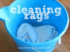 Cut back on your paper towel consumption with this great post for tips and resources via Clean Mama: Cleaning Rags