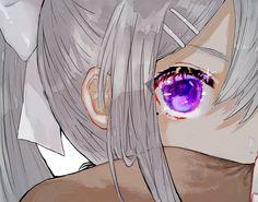 Twitter Dark Anime Girl, Pretty Anime Girl, Kawaii Anime Girl, Manga Girl, Anime Art Girl, Fanarts Anime, Anime Characters, Anime Eyes, Manga Anime