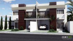 projetos de sobrados geminados - Sobrado Caxias com 3 quartos Plantas de Casas