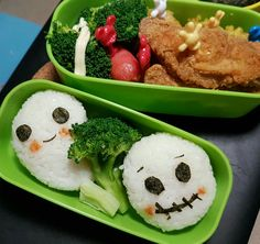 Prepared a 👽👽👿👿👺👺👹👹😈😈👾👾 bento for my little one