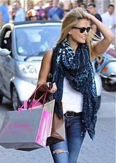 Lovely Scarf Style