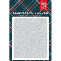 Echo Park - Embossing Folder - Deck The Halls - Snowflakes Echo Park Paper, Scrapbooking, Deck The Halls, Papers Co, Big Shot, Embossing Folder, Snowflakes, Paper Crafts, Cards