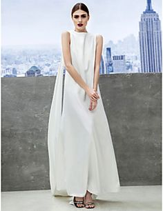 TS Couture® Formal Evening Dress Sheath / Column Bateau Ankle-length Chiffon with