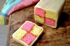 How to Make Battenberg Tea Cake for Mother's Day - foodista.com