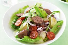 Add some style to your sausages with this salad, it's super quick and great value at under $3.50 per serve.