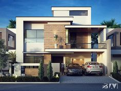Best house plans with garage in back front elevation Ideas Duplex House Plans, Garage House Plans, Bungalow House Design, House Front Design, Small House Design, Modern House Plans, Garage Design, Modern Exterior House Designs, Modern House Facades