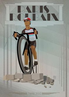 cadenced: Paris-Roubaix poster commemorating Fabian-Cancellara's victory in this year's race by Tour de France - Daily Poster.
