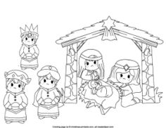 free christmas coloring pages manger shepherds wiseman | Wise Men on Pinterest | 24 Pins