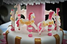 Carousel Cake for Girl- horses