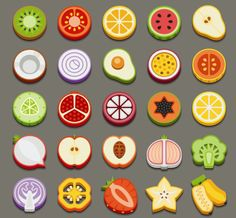3d food icons - Google Search